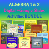 ALGEBRA 1 & 2 Curriculum : Big GROWING ACTIVITIES Bundle 3