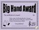 Big Hand Award: Editable reward system for the elementary music classroom
