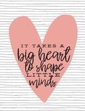 Big Heart Printable