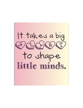 Big Hearts- Teacher Printable FREE