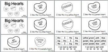 Big Hearts Valentine's Day -- 4 Leveled Emergent Sight Word Readers