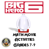 Big Hero 6 Math Activities Grades 7-9