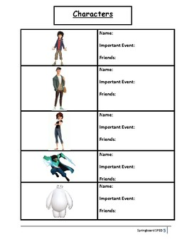 Big Hero 6: Movie Buddy with Activities and Lesson Plan