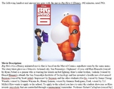 Big Hero 6 Movie Guides and Answer Keys
