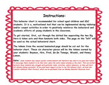 Big Hero 6 Token Behavior Chart!