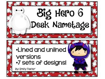 Big Hero 6 themed desk nameplates