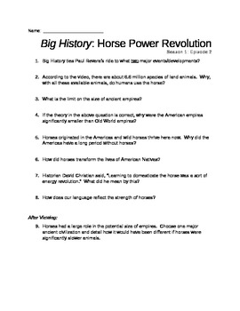 Big History: Horse Power Revolution (Season 1: Episode 2)