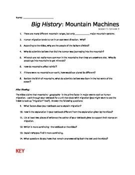 Big History: Mountain Machines (Season 1: Episode 9)