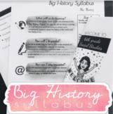 Big History Syllabus *EDITABLE