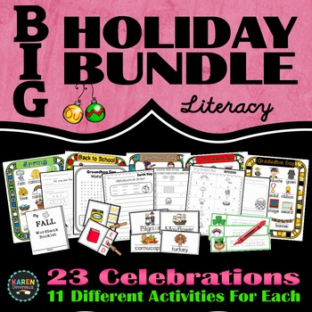 Big Holiday BUNDLE - A Full Year of Holiday Activities