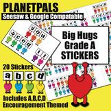 Big Hugs Digital Grading Achievements Fun Classwork Sticke