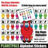 Big Hugs Digital ALPHABET Stickers Make Messages Create Wo
