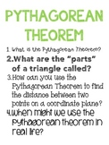 Big Idea Poster: Pythagorean Theorem