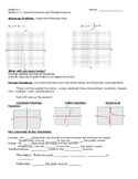 Big Ideas Alg. 2 Section 1.1 Notes
