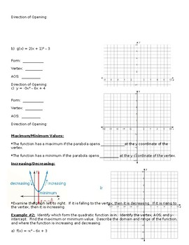 Big Ideas Alg. 2 Section 2.2 Day 1 Notes