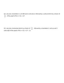 Big Ideas Alg. 2 Section 2.2 Day 2 Worksheet
