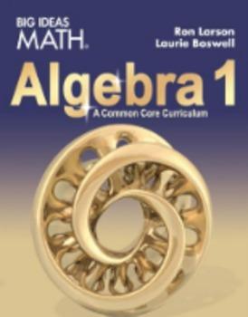 Big Ideas Algebra 1 Homework pages    96% pass rate