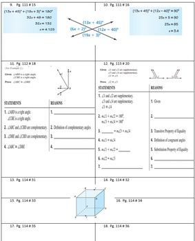 Big Ideas Chapter 2 Geometry Homework Pages 100% pass rate.