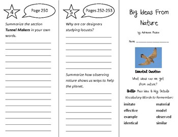 Big Ideas From Nature Trifold - Wonders 3rd Gr U 3 - Independent Reading (2020)