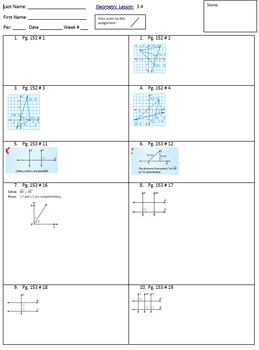 Big Ideas Geometry Ch 3 homework pages. 100% pass rate.
