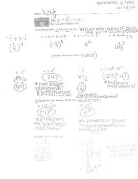 Big Ideas Grade 8 Math Curriculum Chapter 10