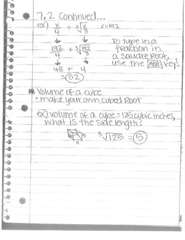 Big Ideas Grade 8 Math Curriculum Chapters 7-8