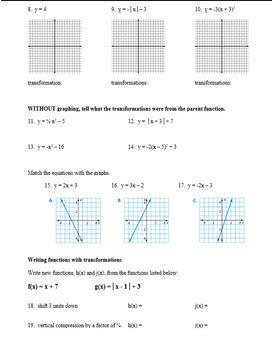Big Ideas Math Algebra 2 Chapter 1 Review