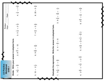 Big Ideas Math Foldables  for Chapters 1 and 2