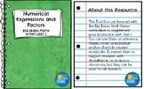 Big Ideas Math Green Unit 1 ~Numerical Expressions and Factors~ Toolbox