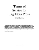 Big Ideas Press TOS