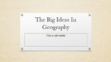 Big Ideas of Geography
