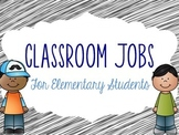 Big Jobs for Elementary Students