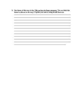 Big Joe's Funeral-Part  Worksheet