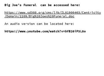 Big Joe's Funeral - Walter Dean Myers