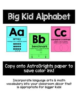 Big Kid Alphabet Posters
