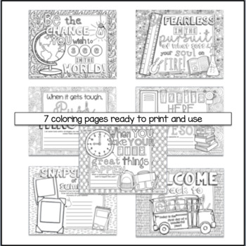 Big Kids Back To School Coloring Pages Motivational Quotes By The Think Tank