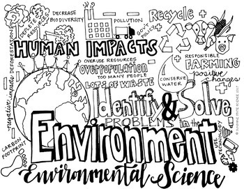 Big Kid Environmental Science Coloring by Sunshine State ...