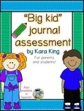 """Big Kid"" Journal Assessment"