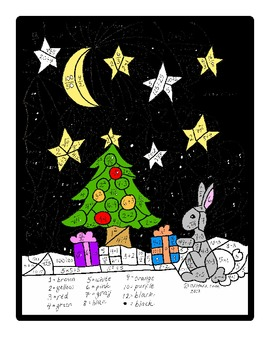 Big Kid Math Holiday Bunny Color By Number