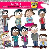 Big Kids All Dressed Up Clip Art