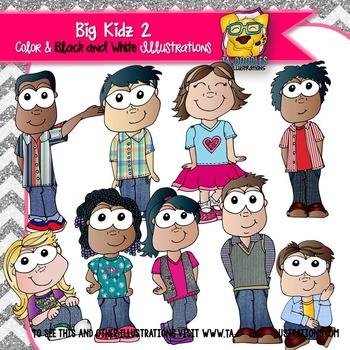 Big Kids All Dressed Up Clip Art