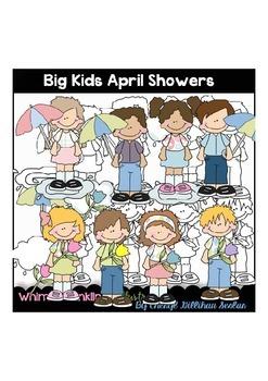 Big Kids April Showers Clipart Collection