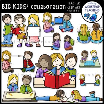 Big Kids Collaborating Clip Art - Whimsy Workshop Teaching