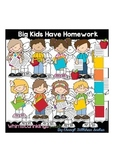 Big Kids Have Homework Clipart Collection