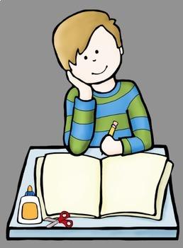 Big Kids Interactive Notebook Clip Art