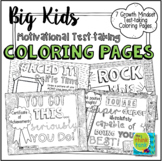 Big Kids: Motivational Test Taking Coloring Pages   Growth