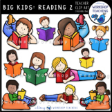 Big Kids: Reading 2 Flexible Seating Clip Art