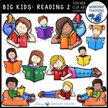 Big Kids: Reading 2 Flexible Seating Clip Art