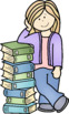 Big Kids Reading and Books Clip Art - Whimsy Workshop Teaching