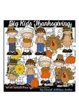 Big Kids Thanksgiving Clipart Collection